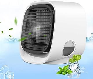 J TOHLO Enfriador de Aire portátil, Aire Acondicionado Mini Enfriador Portátil con Luces de Colores Centro Comercial Aire Acondicionado portátil para Dormitorio de Oficina