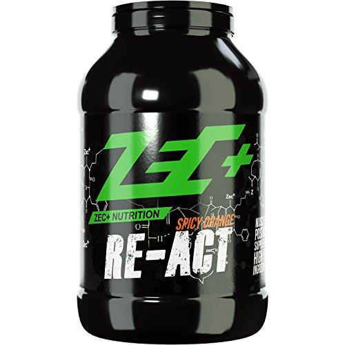 ZEC+ RE-ACT All-in-one Post Workout Shake mit Aminosäuren Vitaminen und Mineralien SPICY ORANGE 1800g