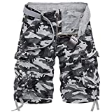 AOYOG Mens Camo Cargo Shorts Relaxed Fit...