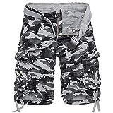 ELETOP Men's Shorts Casual Cargo Elastic Waist...