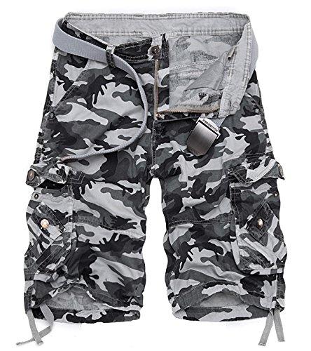 AYG Cargo Shorts Herren Sommer Kurze Hosen Camo Bermuda Short