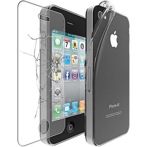 ebestStar - Funda Compatible con iPhone 4, 4S Carcasa Silicona, Protección Claro...
