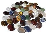 Mix di grandi pietre semipreziose e perlacee, 48 pezzi 18 mm ovali pietre curative gemme pietre preziose pietre perlacee perle semipreziose perle per bricolage Avventurina verde ossidiana