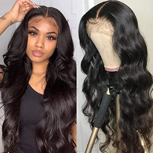 Nadula 8A Human Hair 13×4 Lace Frontal Wig Body Wave with Baby Hair Brazilian Virgin Remy Body Wave Hair Wigs 150% Density For Black Women (16inch)