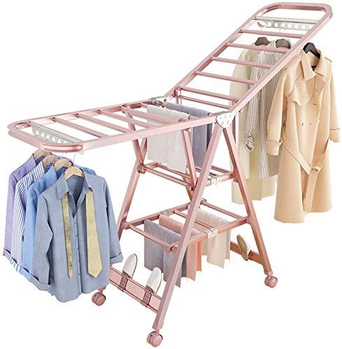Tendedero de ropa con calefacción eléctrica, tendedero de ala, tendedero de ropa...