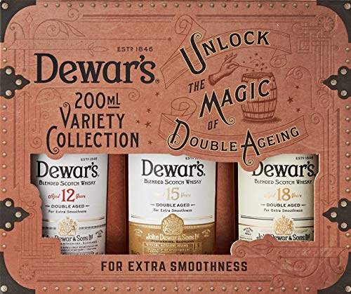 Dewar's Pack de 3 botellines x 200 ml de Dewar's 12, 15 y 18 - 600 ml