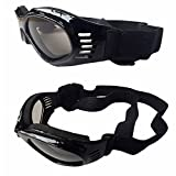 CAZZO Cool Pet Dog Motorcycles Bike Helmet/Sunglasses for Sun Rain Protection,Funny Halloween Cosplay Costume for Cats Dogs (Black Sunglasses)