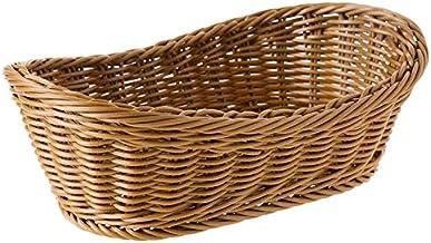 xinyawl Panier de rangement ovale Wicker Woven Basket Pain Portion 11 Pouce Panier pour fruits Alimentaire Fruits Plateau ...