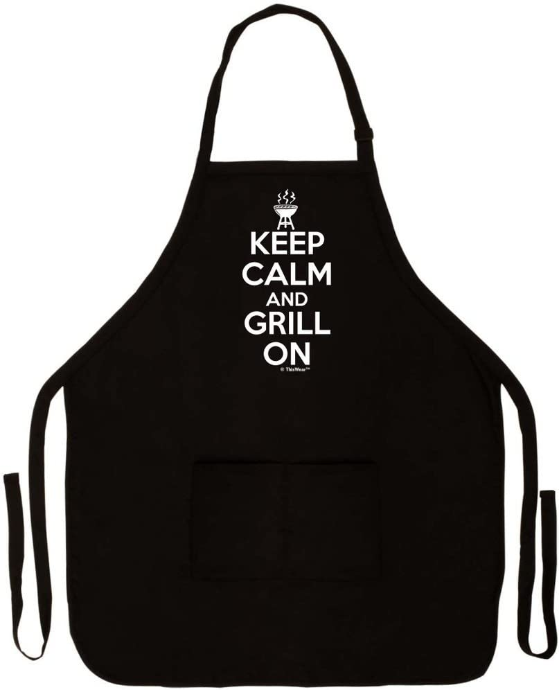 ThisWear Keep Calm 25% OFF and Super popular specialty store Grill On Funny Pit BBQ Grilling Apron for