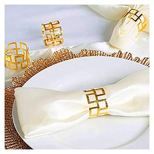 Serviettenringe-Set, 12 Stück, Esstisch-Set, Brautschmuck, Serviettenringe, glänzende Serviettenhalter, Verzierung für Vintage, Weihnachten, Urlaub, Abendessen, Dekoration Gold-12 Stück