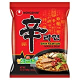 NongShim Shin Ramyun Noodle Soup, Gourmet Spicy, 4.2 Ounce (16 Pack)