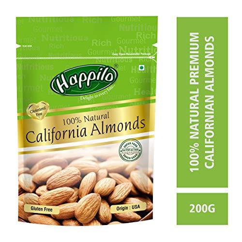 Happilo100% Natural Premium Californian Almonds, 200g
