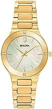Ladies' Bulova Futuro Millennia Gold-Tone Diamond Accent Watch 97R102