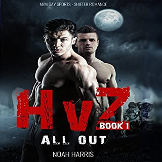 HvZ: All Out (M/M Gay Sports Shifter Romance Book 1)                   By:                                                                                                                                 Noah Harris                               Narrated by:                                                                                                                                 Gus Klondike                      Length: 2 hrs and 34 mins     8 ratings     Overall 4.1