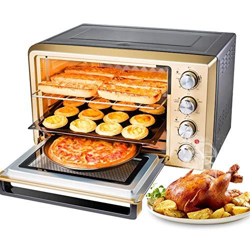 JINRU Tostapane Forno, Acciaio Inox Multifunzione con Timer-Toast-Cottura-impostazione Barbecue, 2000 Watt di Potenza, compreso Forno e ripiano/38L