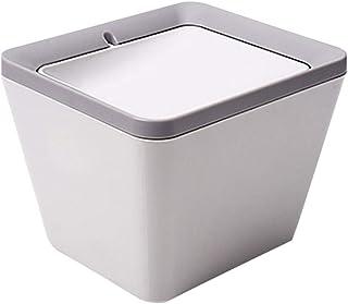 trash can kitchen الغرور كونترتوب القمامة يمكن القمامة مع غطاء ساحة سطح المكتب ساحة السحب (رمادي) bathroom trash can