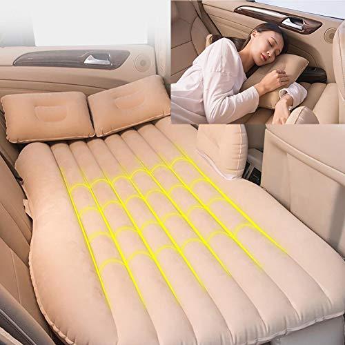 FENG Luftmatratze Auto,Rücksitz von Autos SUVs und Kleinwagen Outdoor Travel Camping Universal für Schlafruhe und intime Bewegung (grün und pink),Beige