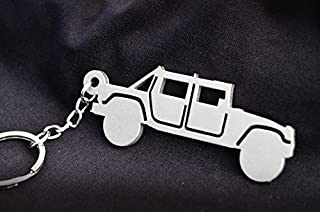MGC Collection Custom Stainless Steel Keychain for Hummer H1 Enthusiasts