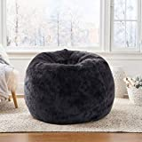 Mollismoons Very Attractive and Luxuries Lounger Funny Bean Bag Cover ( Black, XXXL)