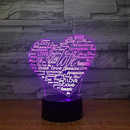 LBMTFFFFFF Lámpara Luz de Noche Lámpara de Ilusión 3D Luz de Noche Led Lámpara de Escritorio Barra de Hogar Decorativa