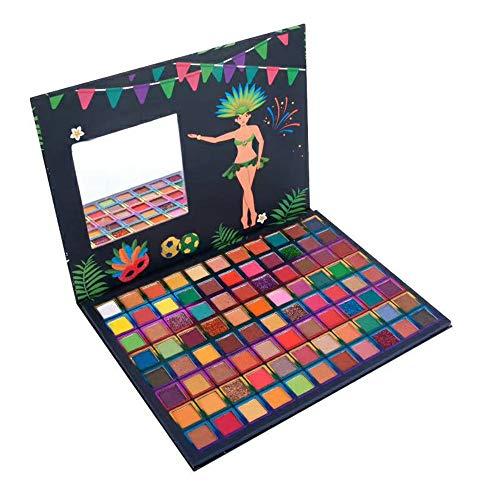 Paleta de sombras de ojos 88 colores Brillo altamente pigmentado y brillo metálico mate Paletas de maquillaje de ojos brillantes Polvo liso colorido impermeable para regalo de mujer