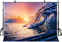 HD 10x7ft海の波の背景写真の背景の波状海の芸術的な肖像画自然の風光明媚な写真撮影スタジオの小道具ビデオLYZY0326