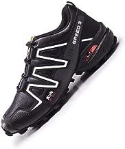 Heren Fietsschoenen - Racefietsschoenen Mountainbike Fietsschoenen MTB,Antislip en Ademende Casual Hardloopschoenen,Black-43