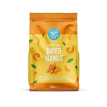 Marca Amazon - Happy Belly Mango deshidratado, 500 g