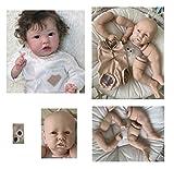 iCradle Kit Reborn sin Pintar Kit de Kit de muñecas Reborn de Silicona Suave sin Pintar Accesorios de Suministro de Piezas Ideal para DIY Reborn Doll Tamaño 23 Pulgadas Cabeza Ojos Bebe Reborn