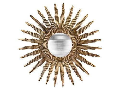 EMDE Miroir Mural Soleil en résine doré D.45cm RINKO