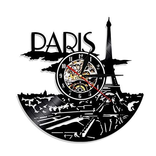 3d illusion lampe kiefer nachtlicht 1 stück silhouette von paris eiffelturm paris frankreich paris stadtbild skyline led licht dekoration von schallplatte uhr geschenk kleine tischlampe lampenschir