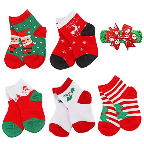 YEAPOOK Baby Toddler Kids Christmas Socks Boys Girls Cute Fuzzy Children...