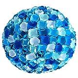 Little Blue Flower Mix, Ø 32cm, bunte Papierlampe Hängelampe Lampe Lampenschirm Pendellampe...