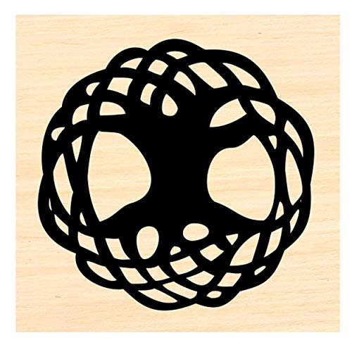 P45 Celtic Tree of Life Rubber Stamp Small