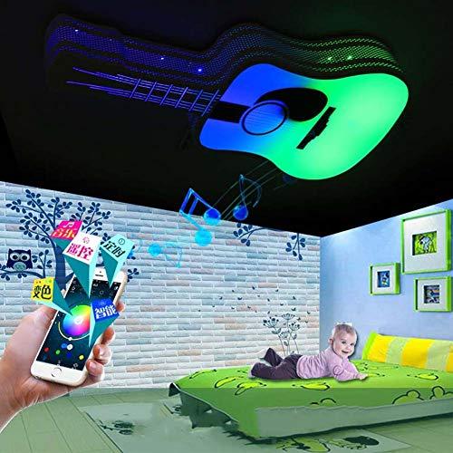 WFL-Lighting - Lámpara de techo LED con altavoz Bluetooth, lámpara de techo y control remoto, 85-265 V, 3000 K-6500 K blanco cálido/blanco frío para dormitorio infantil regalo WFL profesional lig