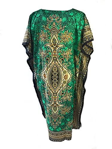 Moda étnica kaftan largo estilo oriental caftan poliéster boubou africano verano vestido kaftan djellaba mujeres bohemia playa playa oversize caftan