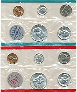 1963 P, D U.S. Mint - 10 Coin Uncirculated Set with Original Governmetn Packaging Uncirculated