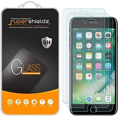 3 Pack Supershieldz for Apple iPhone 8 Plus and iPhone 7 Plus Tempered Glass Screen Protector product image