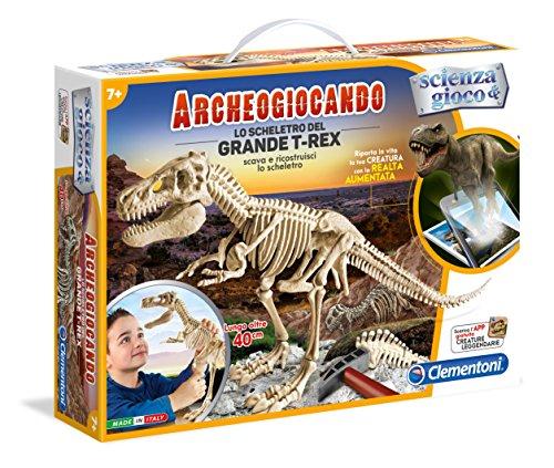Clementoni 13983 - Archeogiocando Lo Scheletro del Grande T-Rex