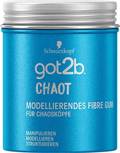 Schwarzkopf got2b Gum Chaot modellierendes Fibre Gum, 1er Pack (1 x 100 ml)