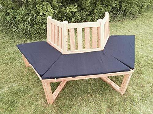Promadino 1/2 Baumbank 180° mit Sitzauflagen