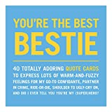 Knock Knock You're the Best Bestie Inner-Truth Friendship Quote Cards Deck, 40 Affirmation Cards &...