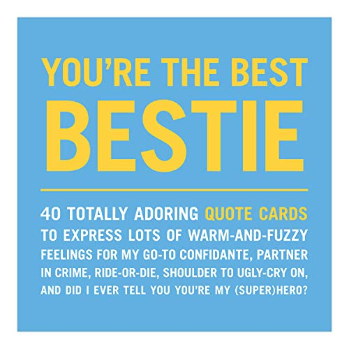 Knock Knock You're the Best Bestie Inner-Truth Friendship Quote Cards Deck, 40 Affirmation Cards & Best Friend Gifts, 4.25 x 4.25-inches
