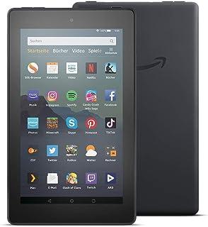 Fire7 Tablet, Zertifiziert und generalüberholt, 7 Zoll Display, 32GB, Schwarz Mit Werbung