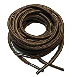 3 pairs Heavy duty durable non slip round boot shoe laces shoelaces for hiking walking construction safety work (48'...