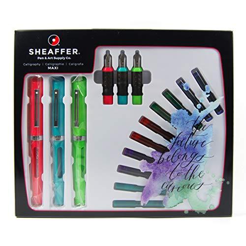 Sheaffer calligrafia Maxi 3penna stilografica con pennino 3set regalo