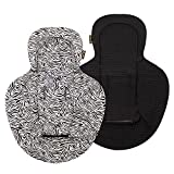 Ukje Inserto infantil compatible con 4Moms MamaRoo, RockaRoo y BounceRoo, inserto reversible Mamaroo, algodón suave e híbrido, cebra negra