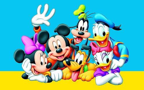 Poster World Donald Duck Daisy Duck Mickey Mouse Dingo et Pluto Cartoon Papier imprimé mat 30,5 x 45,7 cm (Multicolore)