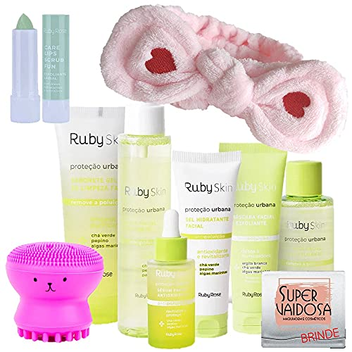 Kit Ruby Skin Proteção Urbana Ruby Rose c/Esponja Facial