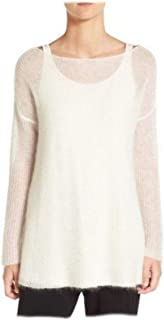 Italian Mohair Soft White Sweater Large MSRP $218.00